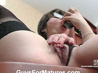 Salacious older chick preparing her itching slit for juvenile pulsating knob