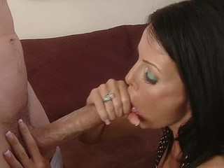 Tabitha ain't afraid of shit, that playgirl takes away the guy of her daughter's dreams and makes his, a reality. This Chick copulates him so hard that guy cums in her mouth, but that wasn't what that playgirl wanted. This Chick spits out his cum onto her left hand and widens it right back into her twat, smothering his cum all over it, this female parent i'd like to fuck is one fucked up female parent i'd like to fuck.