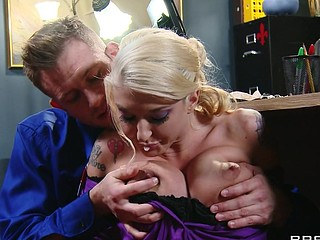 Leya can't live without it when her boss treats her like a wicked cutie. That Babe wants to get in trouble so badly that that babe starts fucking up on purpose, and lastly her flubs get her exactly what this babe wants. This Babe can't obey, so Mr. Bailey teaches her and her pretty little behind a lesson in obedience.